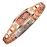 RuiZhiYuan Damen Armbanduhr Quarzwerk Wasserdicht Wolfram Stahl Uhren Uhr(Rose Gold)