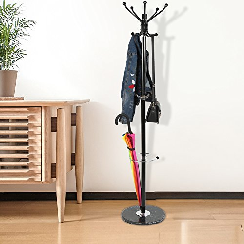 Flyelf 173cm attaccapanni appendiabiti appendino per giacca, cappotto, cappello e ombrello