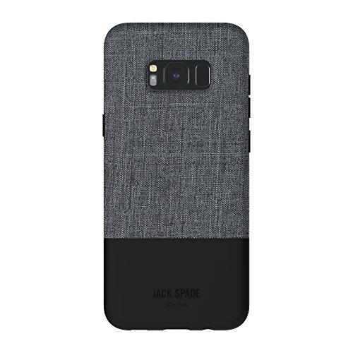 Jack Spade Color-Block Case Hülle für Samsung Galaxy S8+ - Tech Oxford Grau/Schwarz -