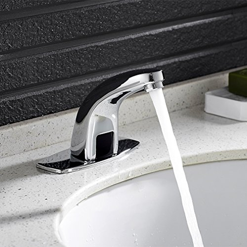 Auralum – Waschbeckenarmatur, Kaltwasserarmatur, Sensorarmatur, Infrarot IR, Batteriebetrieb, Chrom - 2