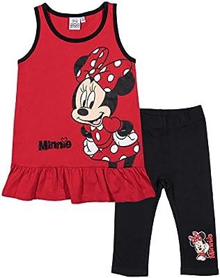Disney Minnie Chicas Camiseta sin mangas con pantalones capri - Rojo