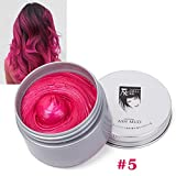 ROPALIA Einmalige Haarfarbe Wachs Farbstoff Molding Paste Haarfärbemittel Wachs Unisex Style