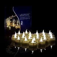 24pcs Candele a LED, AGPtek lotto 24 LED candele con Timer a batteria senza fiamma senza fumo tremolanti lampeggiante per festa di nozze tavolo cena decorazioni caldo bianco due dozzine-Pack(Warm White Flickering with Timer)