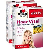 Doppelherz Haar Vital – Nahrungsergänzungsmittel mit Zink und Biotin zum Erhalt normaler Haare – 2 x 30 Kapseln