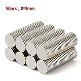 tinxi® 50 Stück N42 starke Neodym Magnete 8 x 1 mm runde Scheiben super Power Magnete