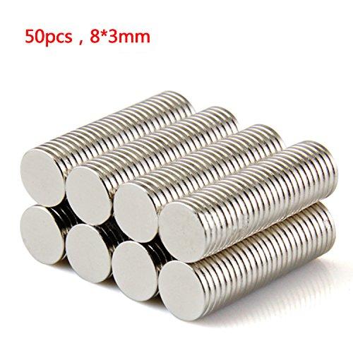 tinxir-50-pz-n52-magneti-al-neodimio-magnete-calamita-super-forte-da-parete-8-x-1-mm-magneti