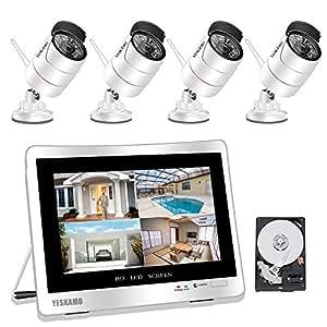 yeskamo berwachungskamera set au en kamera. Black Bedroom Furniture Sets. Home Design Ideas
