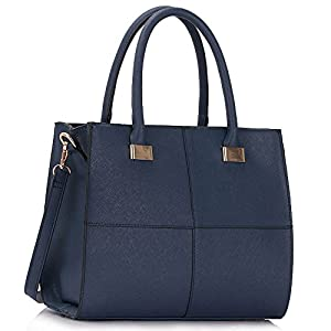 Ladies Women's Fashion Quality Faux Leather Bags Handbags Chic Designer Bag LS00153M