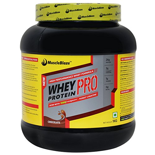 MuscleBlaze Whey Protein Pro with Creapure, 1kg / 2.2 lbs Chocolate
