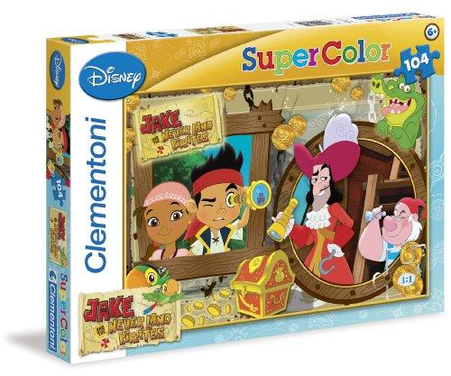 Clementoni 27844.2 - Puzzle Jake and The Neverland Pirates, 104 (Piraten Neverland Die Bilder Jake Und)