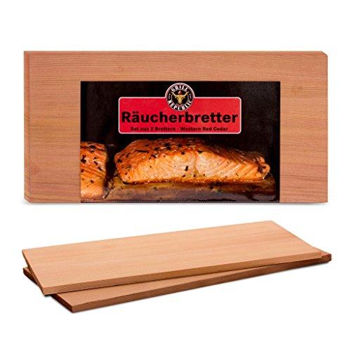 51WJTdXUkML - Hochwertige Räucherbretter zum Grillen für herrliches Raucharoma I Grillbretter aus reinem Zedernholz
