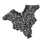 #3: MagiDeal 1 Piece Black Lace Applique Neck Neckline Collar Venise Lace Trim for DIY Crafts