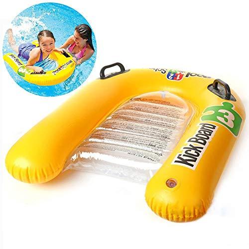 Aufblasbare Float Hängematte Lounger Chair, Schwimmschule Kick Board, Pool Raft Float Row Schwebebett Schwimmbrett Kinder Lernen Schwimmen Kickboard 81 * 76CM / 31.89 * 29.92in ( UnitCount : 1PCS )