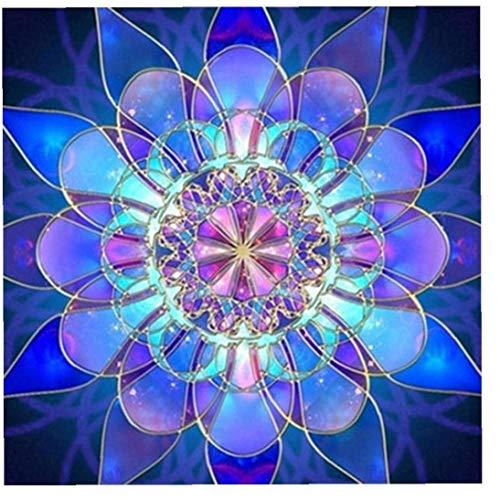 LAANCOO Blau Datura Blume DIY 5d Diamant-malerei Volle Bohrgerät-Diamant-Stickerei Malerei Kit Gemälde Zufalls Bohren Voll Diamant-Stickerei Malkasten