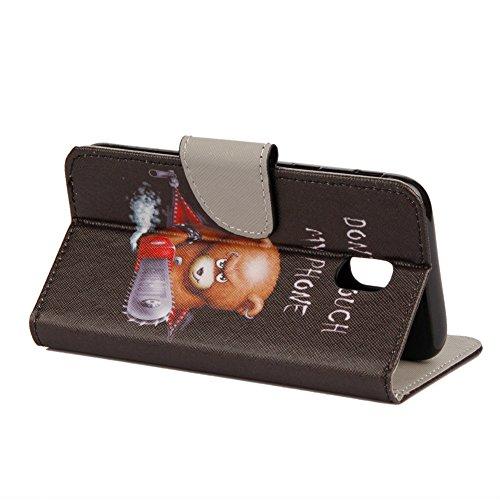 KM-WEN® Schutzhülle für Apple iPhone X (5,8 Zoll) Bookstyle Farbmalerei Series Magnetverschluss PU Leder Wallet Case Flip Cover Hülle Tasche Schutzhülle mit Standfunktion Kartenfächer für Apple iPhone Farbe-11