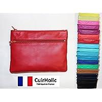 Pouch - Cuir d'Agneau Véritable - Taille L - Fabriqué en France - Femme