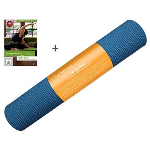 """Yogamatte \""""Relax Plus\"""" von Livingroom Yoga - 7mm dick, phtalatfrei, nicht toxisch (jetzt mit Gratis DVD)"""