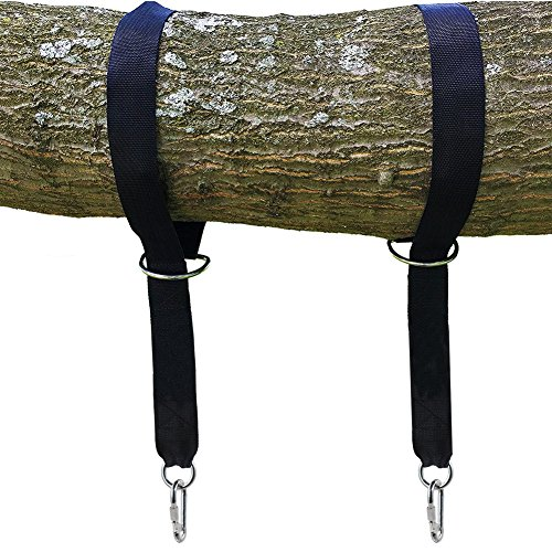 Tree Swing Hanging Straps Kit hält 1100 Lbs (500 Kg) -2 Straps & 2 Sicherheitsschloss Carabiner Hook & Carry Beutel, Perfekt für Hängematte, Schaukeln, Easy & Fast Installation, 5 ft lang Schwarz