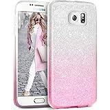 Coque Samsung S6 Paillette Pink Shading, TheBlingZ.® Housse Etui Protection Brillante Paillette Case pour Samsung Galaxy S6 - Pink Shading