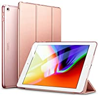 ESR iPad 9.7 Inch 2018/2017 Case, Ultra-slim Lightweight Smart Case with Trifold Stand and Auto Sleep/Wake, Microfiber Lining, Translucent Frosted Back for iPad 9.7 inch (iPad 6, iPad 5), Rose Gold