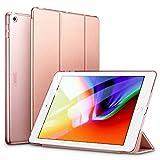 ESR Funda para iPad 2017/Nuevo iPad 2018 de 9.7' Silicona [Auto-Desbloquear] [Botones Protegidos] Función de Soporte de Cuero Sintético y Plástico Smart Cover para Apple iPad 9.7' 2017/2018-Oro Rosa