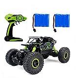 Ferngesteuertes Autos,RC Auto Rock Crawler,1:18 Ferngesteuertes Monstertruck,4WD Elektrisches Offroad Fahrzeug (Grün)