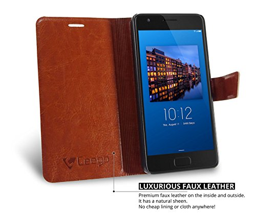 Ceego Flip Cover for Lenovo Z2 Plus [Ultra Compact with Magnetic Lock] – XpressGo Series – Lenovo Zuk Z2 Flip Case (Vintage Brown)