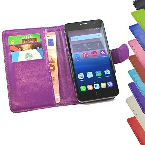ikracase Tasche für Mobistel Cynus F9 Hülle Cover Case Etui Handy-Tasche Schutz-Hülle in Lila