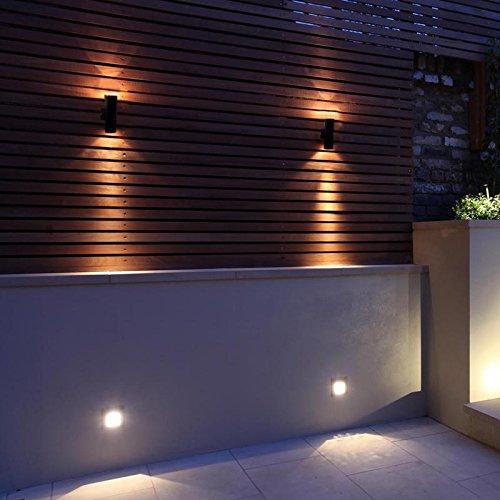 2 x modern black external updown outdoor wall light pir motion 2 x modern black external updown outdoor wall light pir aloadofball Choice Image