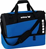 Erima Unisex's Spacious Sports Bag with Bottom Compartment-New Royal Blue/Black, Small
