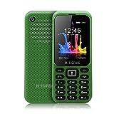 M-HORSE B1000 2000mAh Mobiltelefon 2.4 Zoll Farbdisplay Dual SIM Großer Tasten Großem Taschenlampe 2G GSM FM Bluetooth - Grün
