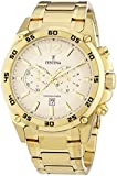 Festina PRESTIGE Men's Quartz Watch with Gold Dial Chronograph Display and Gold Stainless Steel Gold Plated Bracelet F16806/1