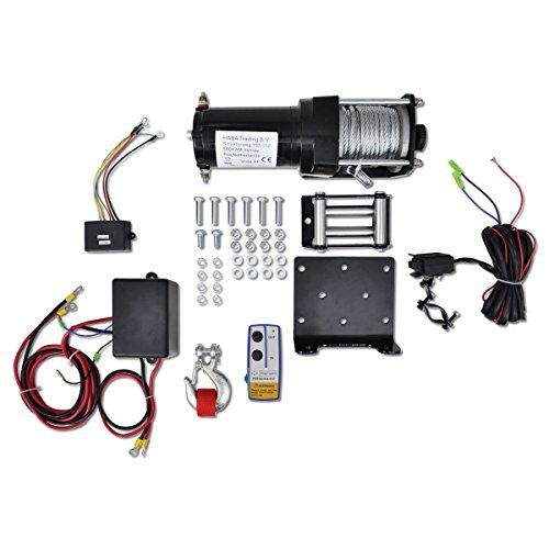 vidaXL Télécomande de treuil électrique 1360kg sans fil usage général outil général