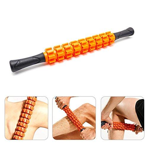Aolvo Muskel-Roller für Muskel-Massage Stick-mit Myofascial Release für Sportler mit Schwimmer 'Post Pre Workout Muscle Trage zur Entspannung Orange (Orange Massage-stick)