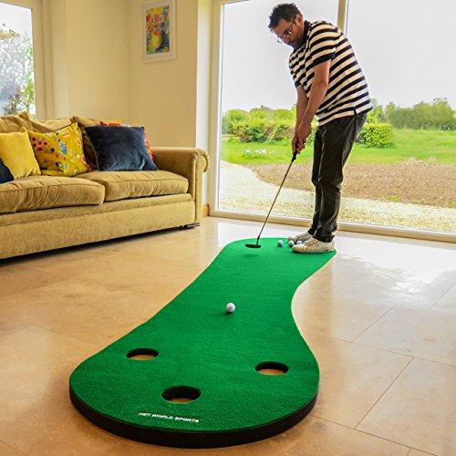 FORB Haus Golf Putting Matten - Praxis & Verbessern, Putt Striche, Golfübungsgeräte Zuhause [Net World Sports]