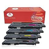 Toner Kingdom 4 Pack kompatibel Tonerpatronen für Samsung CLT-406S CLP-360 CLP-365 CLP-365W CLP-360N CLP-365W CLX-3300 CLX-3305 CLX-3305FN CLX-3305FW CLX-3305N CLX-3305W Xpress C410W SL-C460FW Drucker (1 Schwarz,1 Cyan,1 Gelb,1 Magenta)