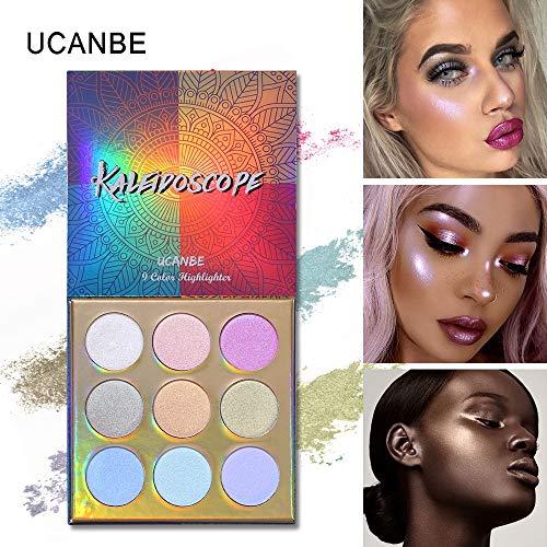 UCANBE 9 couleurs maquillage de surligneur Ombre À Paupières Maquillage Palette Surligneur Bronzer Glow Shimmer Ombre À Paupières 3D Poudre Palette Cosmétique Kit