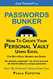 Passwords Bunker: How To Create Your Personal Vault Using Excel (Life Tracker Books Book 1) (English Edition)