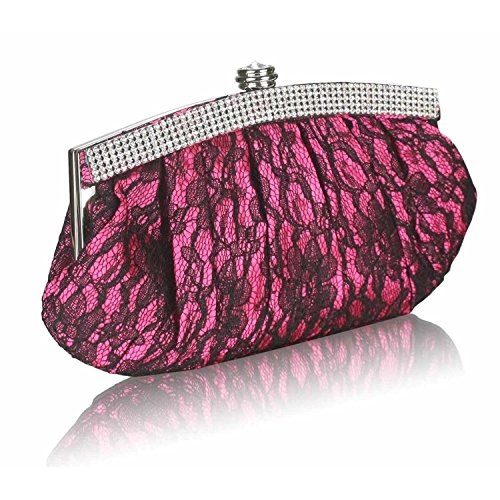 L And S Handbags, Poschette giorno donna Fuchsia Pink