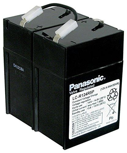 Preisvergleich Produktbild Panasonic Industrial Blei Akku/ 2x LC-R064R5P/ 12V/ 4,5Ah/ Bleigel/ Blei Vlies/ AGM Technik/ Faston 4,8mm