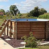 Sunbay - Piscine bois Vanille Ø 4,12 x 1,19 m - Sunbay