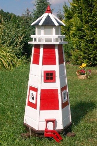 Wunderschöner großerLeuchtturm aus Holz mit SOLAR Beleuchtung LED