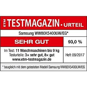 Samsung WW80K5400UW - Lavadora (Independiente, Carga frontal ...