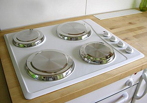 Herdabdeckplatten aus Edelstahl Herdabdeckung Plattenschutz 4tlg.
