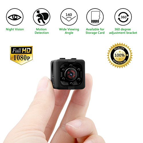 Spy 1080p mini cam hidden camera eternal eye telecamera spia nascosta 1080p hd rilevamento di movimento portatile videocamera di sorveglianza video visione notturna ir registrazione in loop il regalo perfetto (nero)