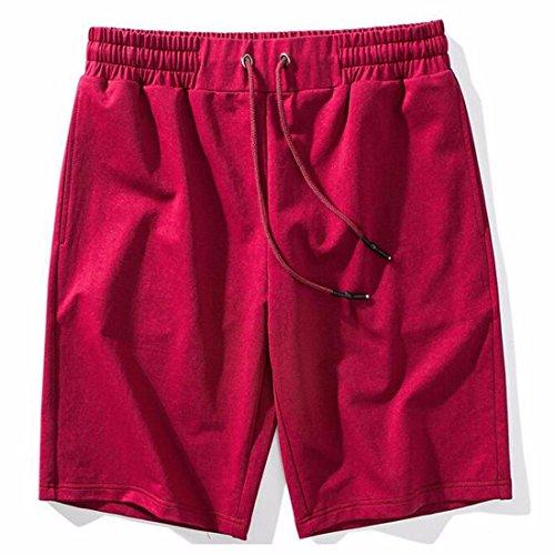 Ai.Moichien Herren Boardshorts Schnell Trocknend Surfen Shorts Schwimmhose BadeShorts Casual Strand Shorts Rot
