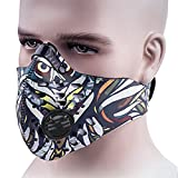 Dustproof Mask, ANGOO Activated Carbon Filtration Dust Mask Training Cycling Half Face Mask filter Dust Exhaust Gas, Anti Pollen Allergy PM 2.5 for Outdoor Activities (night hunter)