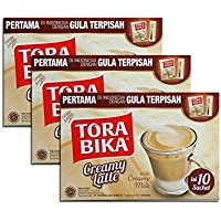 Tora Bika Cafe Tora bika latte cremoso 10 porciones Pack de 3
