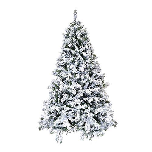 Xone albero di natale innevato 240cm super folto e realistico | pino altissima qualità con neve ottima resa