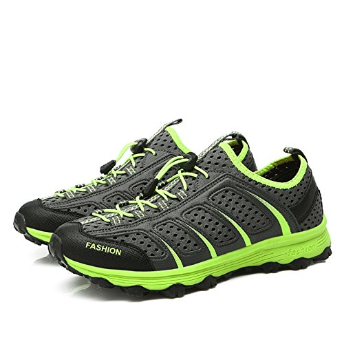 Chaussures de sport décontractées pour hommes Chaussures antidérapantes Jogging Escalade Outdoor Sneaker de mode GOMNEAR gris foncé